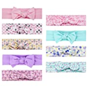 9-Pack Baby Girl Headbands with Bows, Infant Headwraps Hair Accessories by MiiYoung