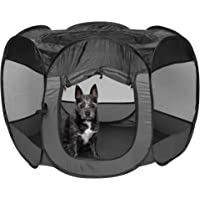 Furhaven Indoor-Outdoor Pop Up Exercise Playpen Pet Tent Playground for Small, Medium, and Large Dogs and Cats…