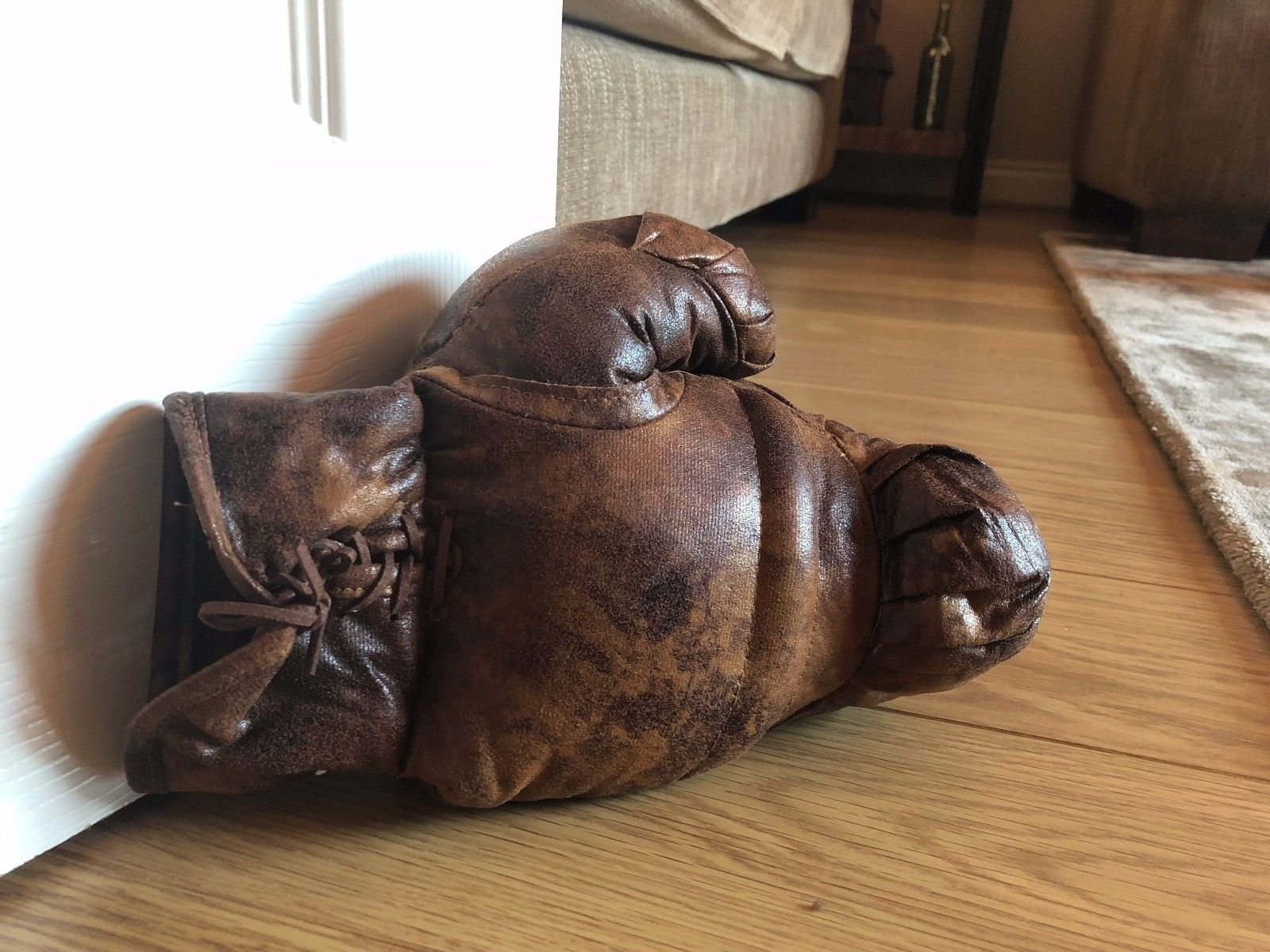 Door Stop Stopper Faux Leather Heavy Filled 6 Animal & Sport Designs Large