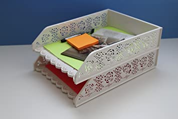 Bandeja para cartas, diseño de organizador de escritorio, apilable archivo Holder – Set de