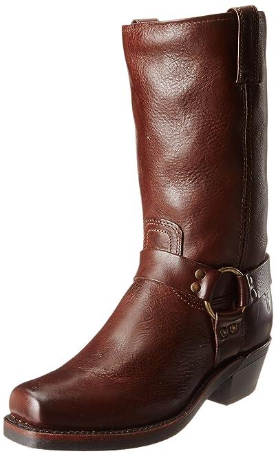 FRYE Women's Harness 12R Boot, Dark Brown Pebbled Full Grain, ...