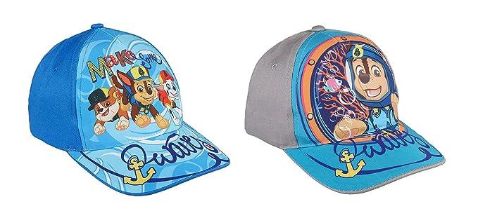 Pack 2 gorras de tela adaptables 2 diseños diferentes Patrulla Canina (Paw Patrol) azul y gris: Amazon.es: Ropa y accesorios
