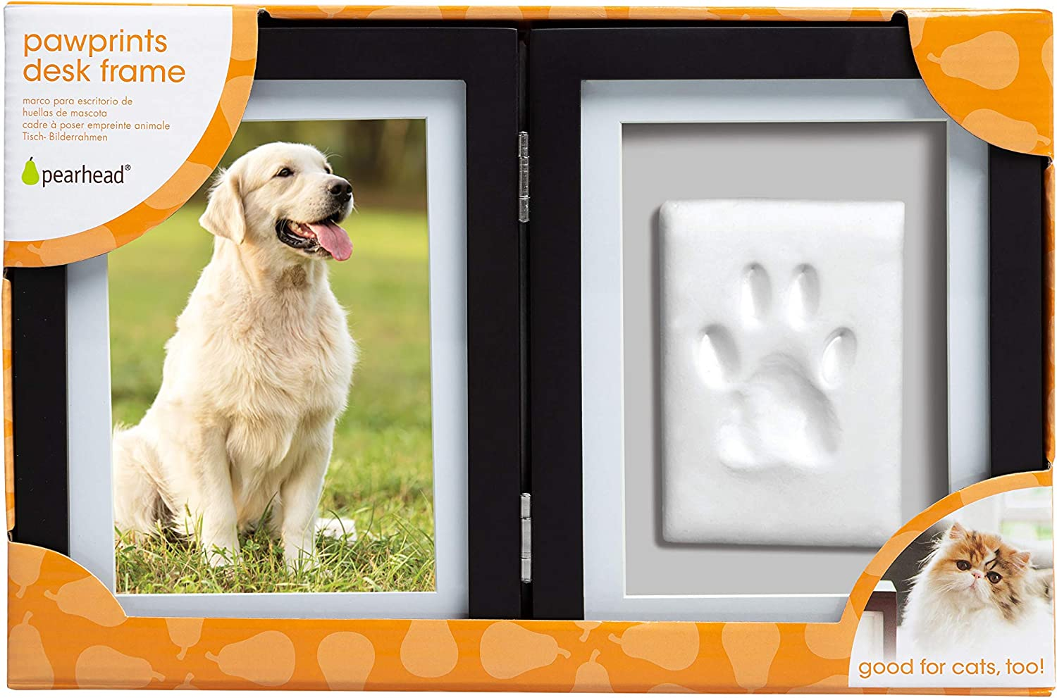 Black Pearhead Pawprints Desk Frame and Clay