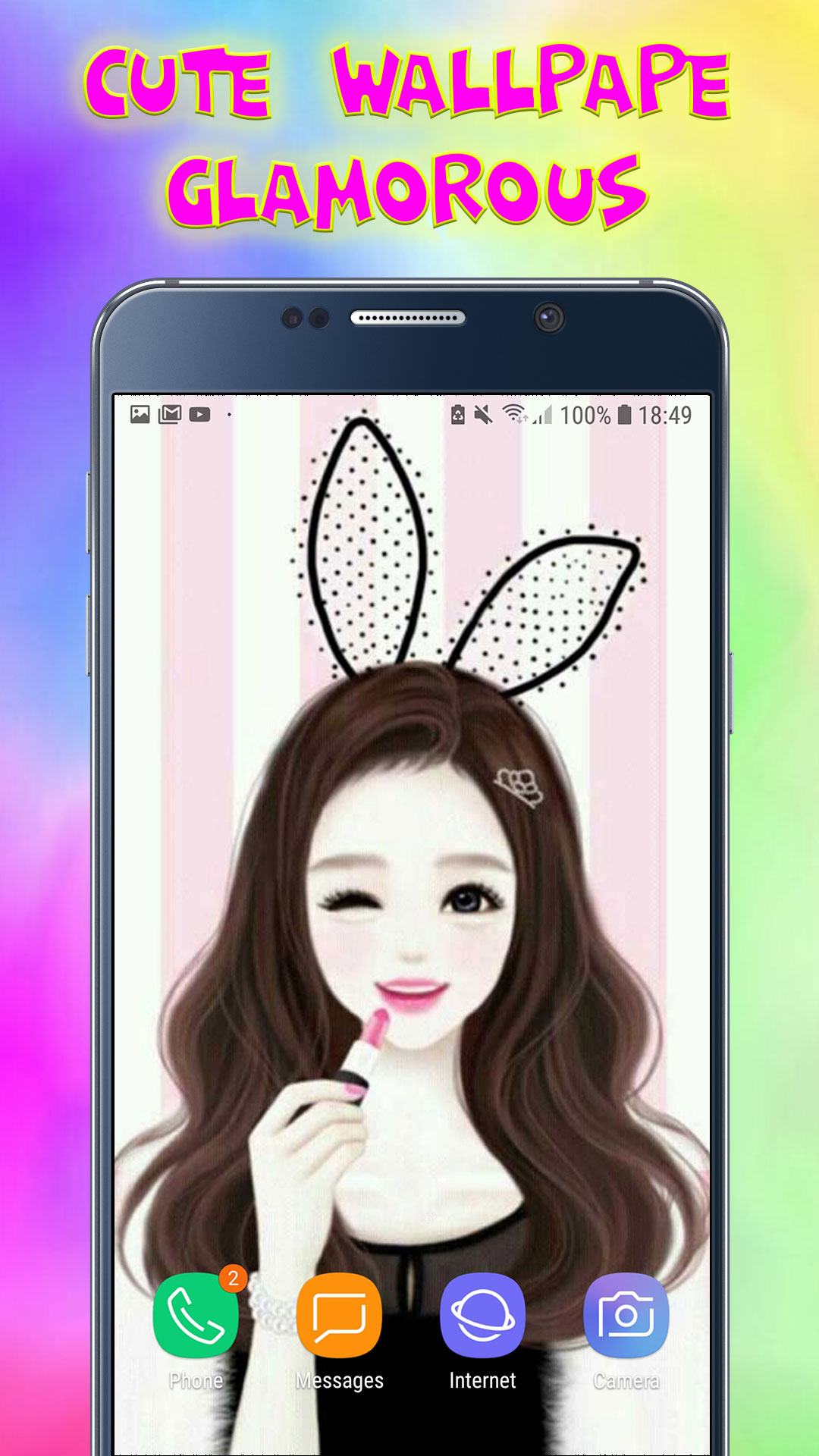 Amazon Com Cute Wallpapers Glamorous Kawaii Sparkly Hd Lock Screen Backgrounds For Girls Appstore For Android