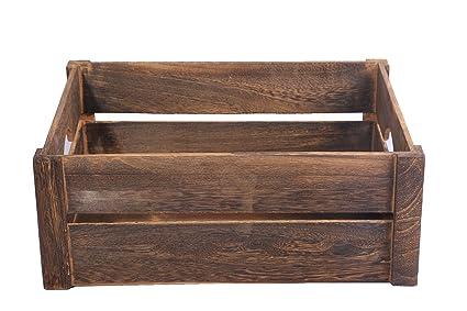 Basic House Wooden Apple Crates Display Plants Fruits Storage Easter Gift Hamper Large