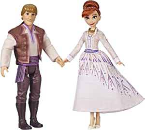 Frozen 2 - Anna and Kristoff Fashion Dolls - Outfits Featured in the Disney Frozen 2 Movie - 2-Pack - Toys for kids, girls, boys - Ages 3+