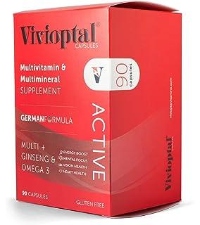 ViVivioptal Active 90 Capsules - Multivitamin & Multimineral Supplement - Ginseng ...