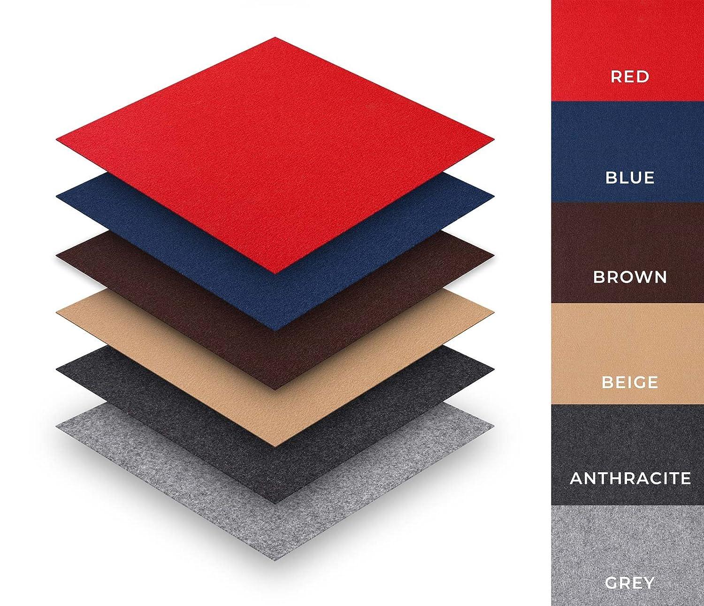 Self adhesive carpet tiles package deal 25 tiles 4m² colour blue type 40x40cm easy diy peel stick installation amazon co uk diy tools