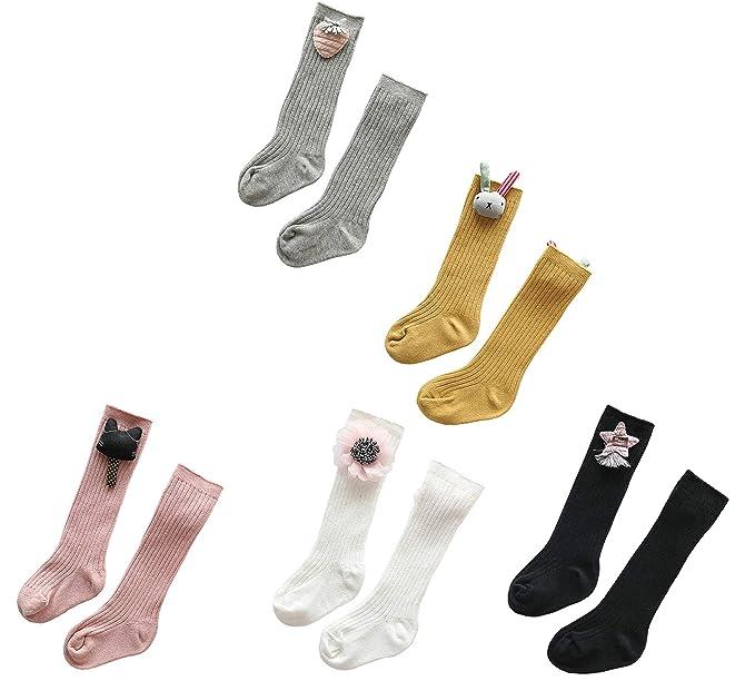 66ae70c65f7 EIAY Shop Kid Baby Girl Toddler Princess Solid Color Knee High Socks  Cartoon Long Sock 5