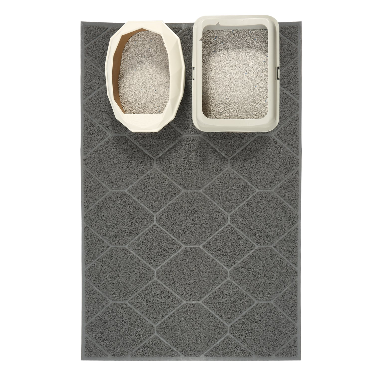 Cosyearn Large Litter Mat 47'' x 36'' Inch Jumbo Large Size Kitty Litter Mat, Easy Clean, Durable,Cat Litter Trapping Mat,Non-Slip Backing, Dirt Catcher, Soft on Paws. (Grey)