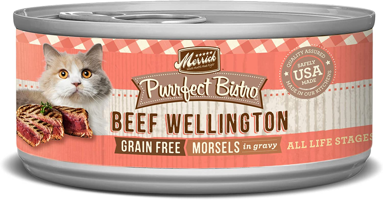 Merrick Purrfect Bistro Grain Free, 5.5 oz, Beef Wellington - Pack of 24