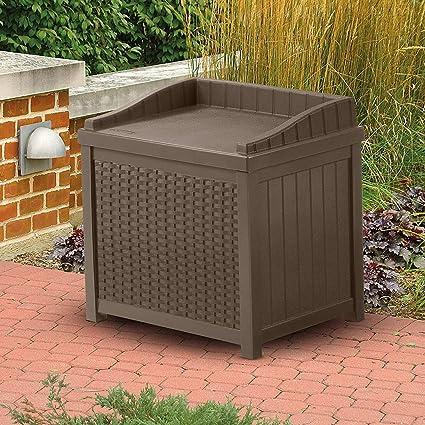 All Weather Outdoor Storage Seat Box, Patio Storage Organizer, Resin  Plastic Deck Box