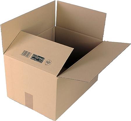 ProgressCargo PC K10.06 - Pack de 20 cajas de cartón, color marrón: Amazon.es: Oficina y papelería