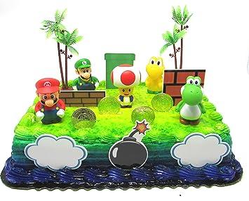 Super Mario Brothers 25 Piece Deluxe Game Scene Birthday Cake
