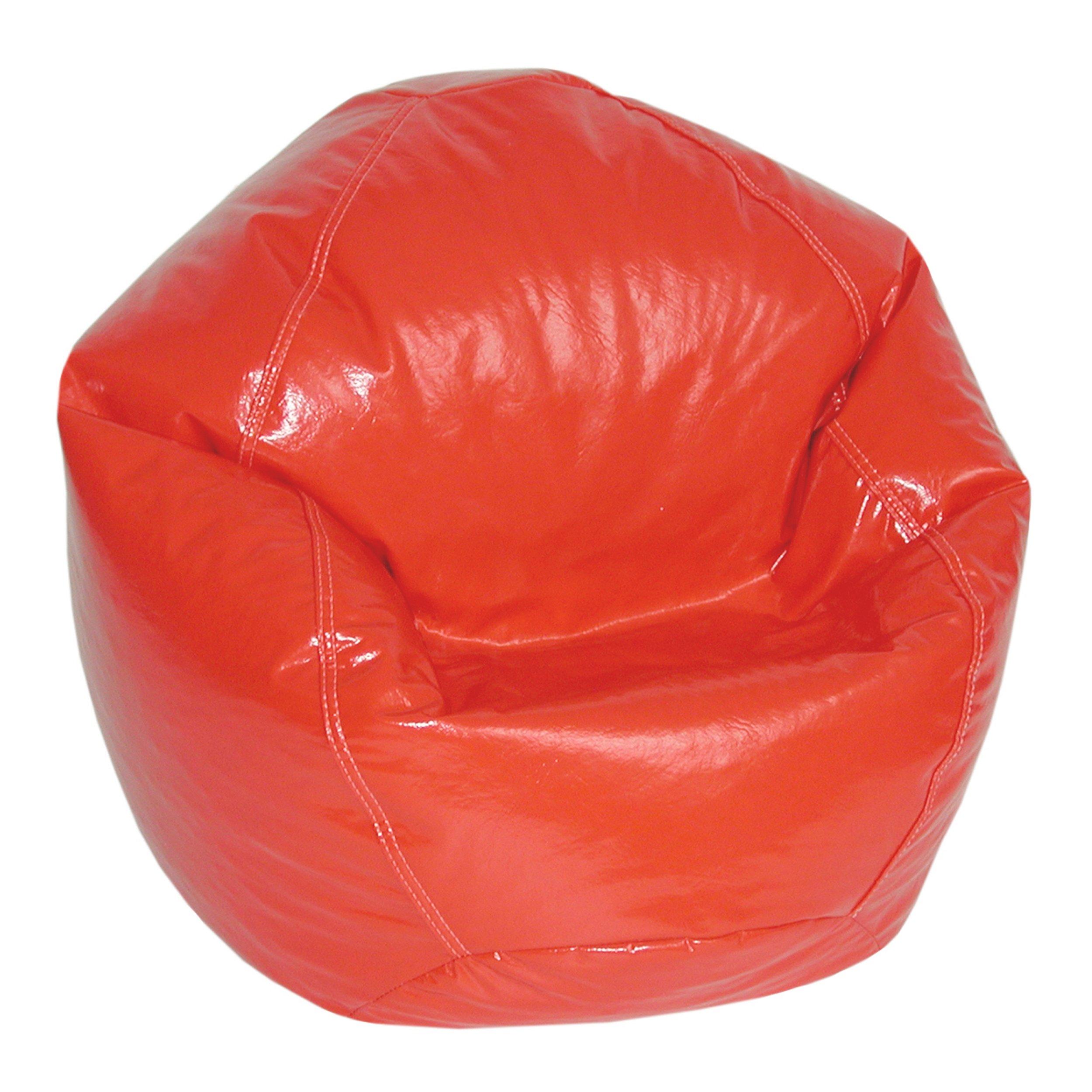 American Furniture Alliance Wetlook Bean Bag Jr Child, Lipstick