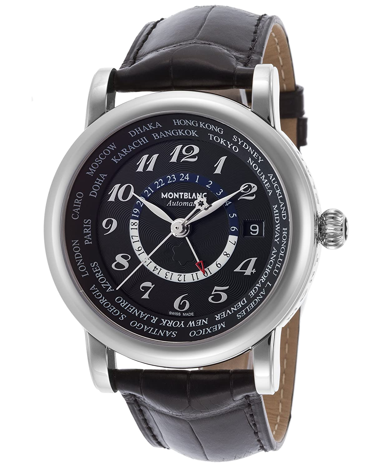 0e4ce8d6b4e Amazon.com: Montblanc Men's 109285 Star Analog Display Swiss Automatic  Black Watch: Montblanc: Watches