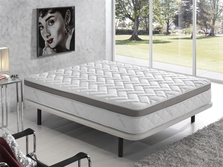 Living Sofa COLCHÓN VISCOELASTICO VISCOELASTICA Premium Acolchado con Hilo DE Plata ANTIESTÁTICO 105 x 190 (