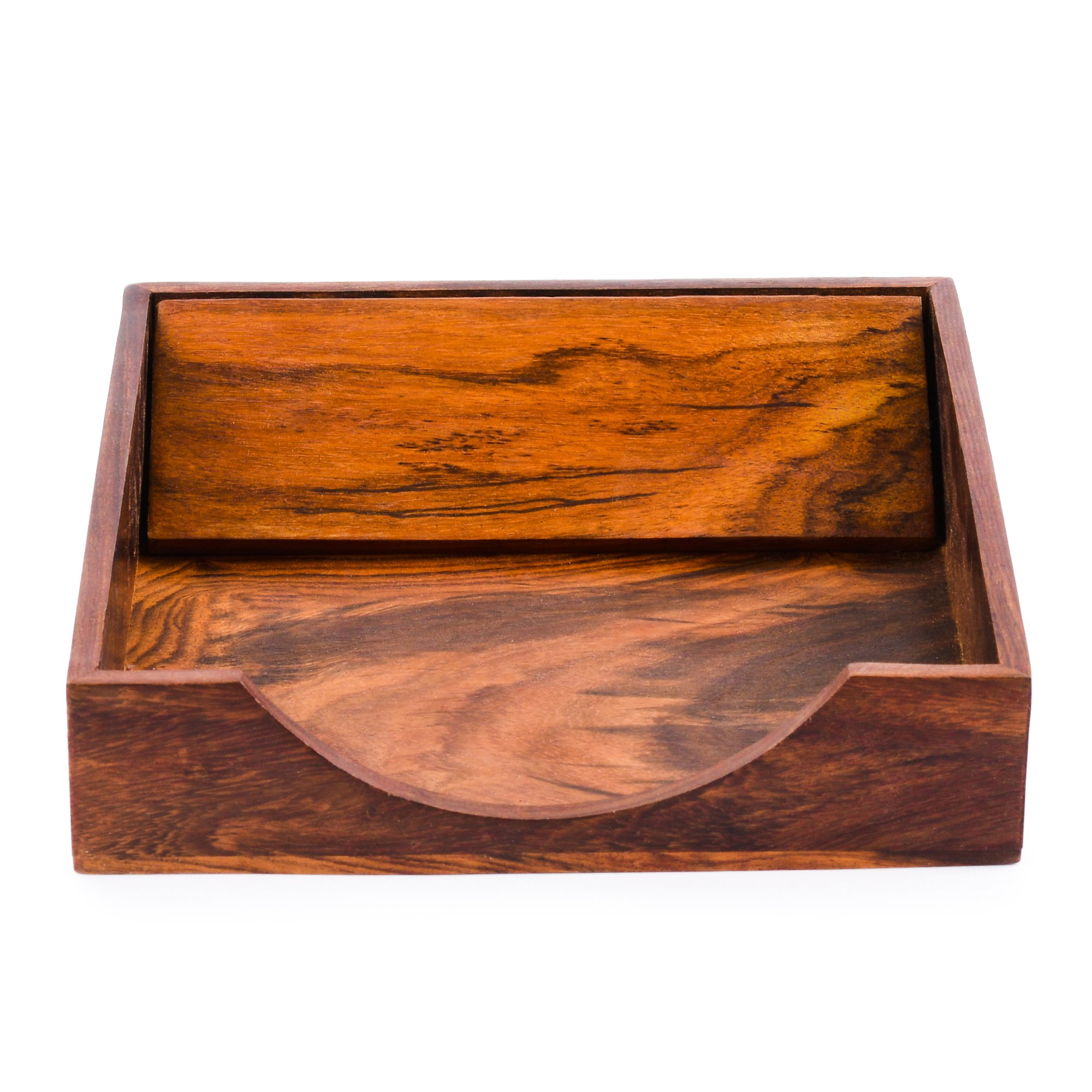 Rusticity Wood Paper Napkin Holder for Napkin and Tissues - Sleek Design | Handmade | (7x7 in) by Rusticity (Image #2)