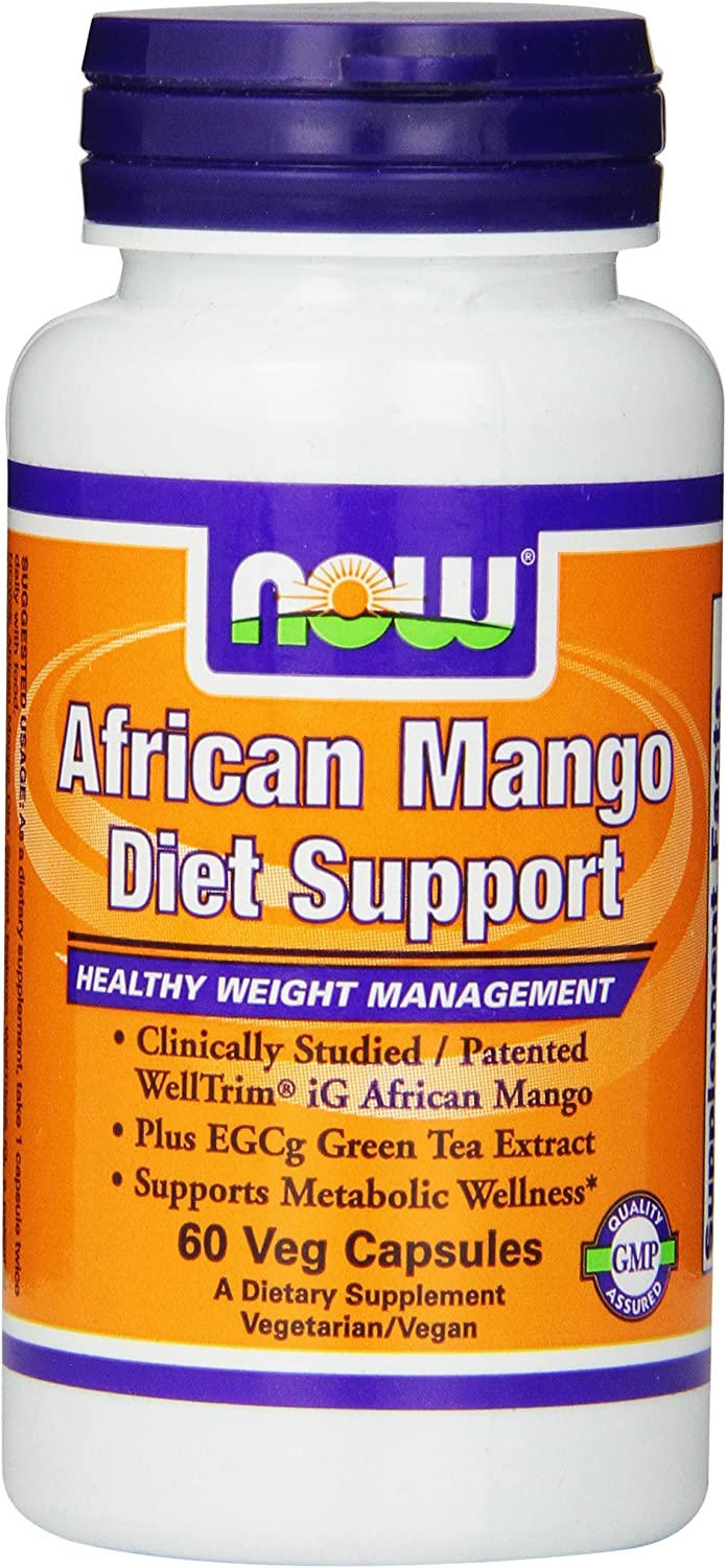Now Foods African Mango Diet Support Veg Capsules, 60 Count