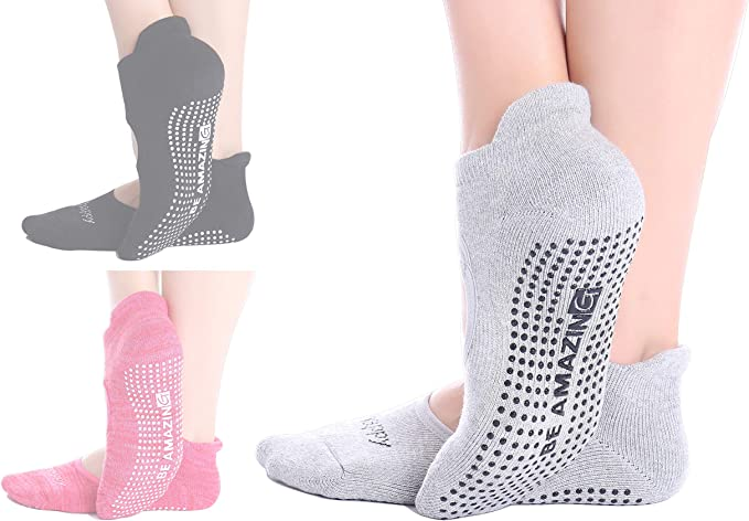 Yoga Socks for Women Barre Sock Non-Slip No-Skid Grip Pilates Hospital Maternity