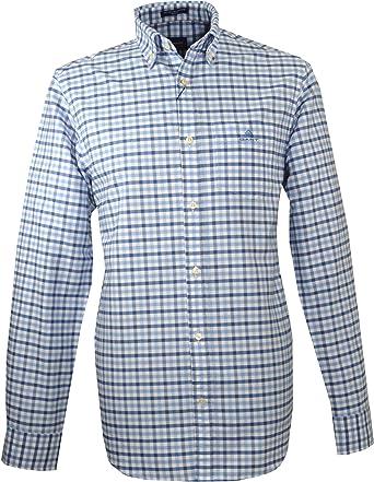 GANT Camisa Oxford 2 Col Gingham para Hombre – 3060600 – Azul Capri: Amazon.es: Ropa y accesorios
