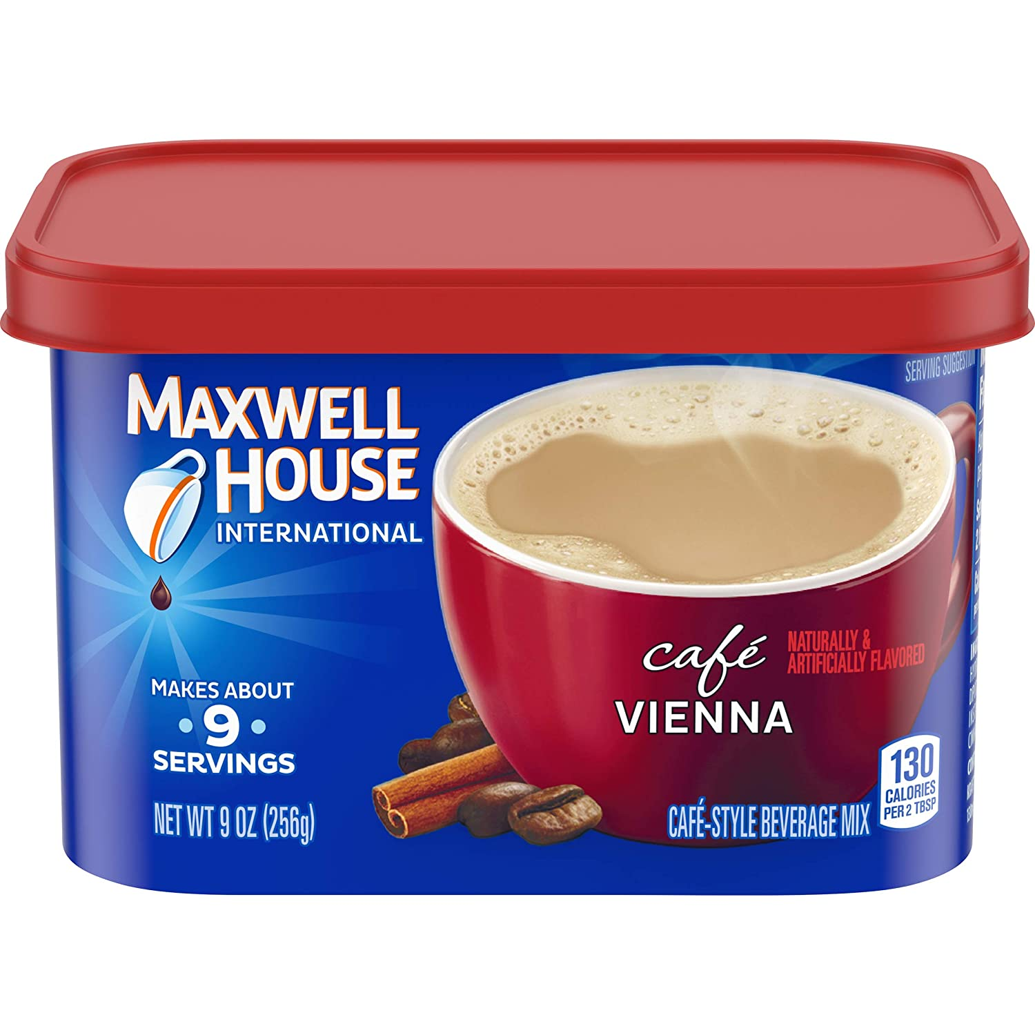 Maxwell House International Cafe Vienna Instant Coffee (9 oz Canisters, Pack of 8)