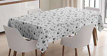 Amazon.com: Gris mantel por lunarable, patrón con huella de ...