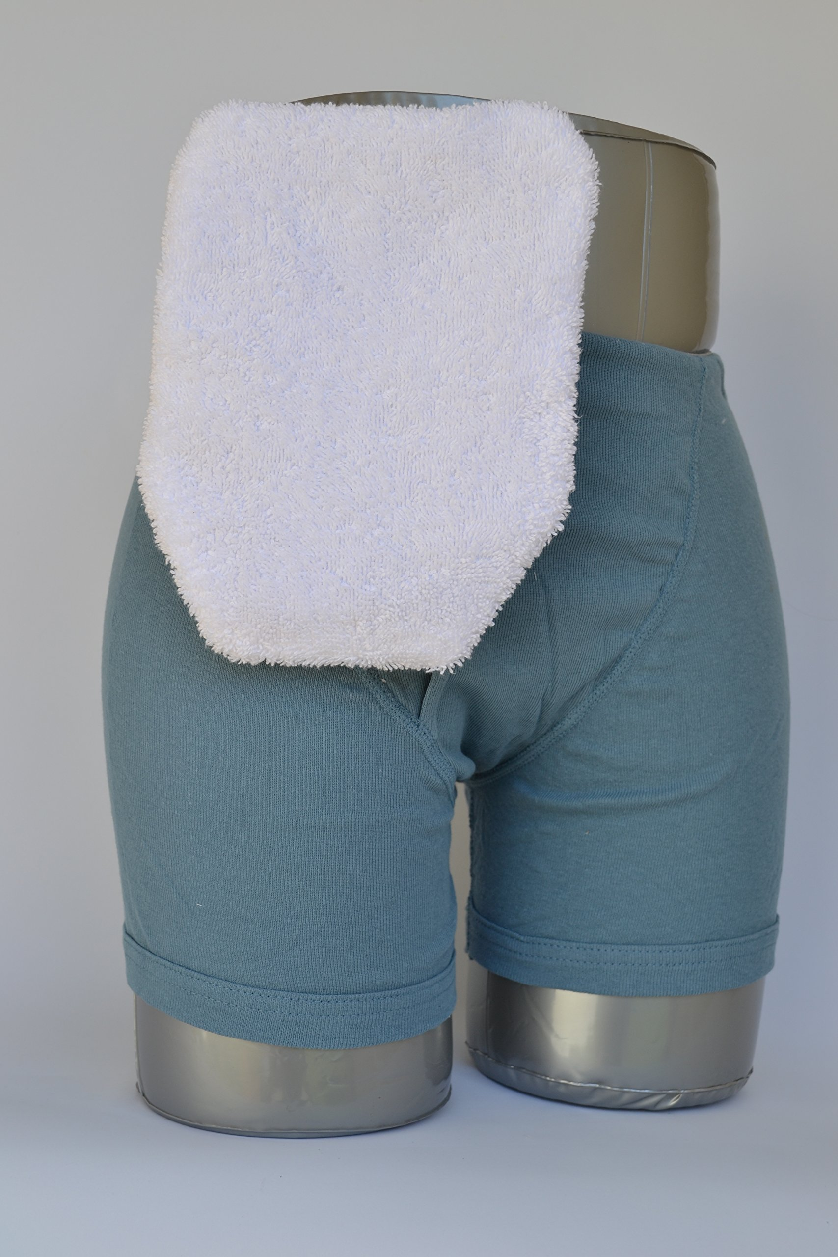 C & S Ostomy Pouch Covers Cx72749 Quick Dry Pouch Cover, Fits Flange Opening Of 3/4'' To 2-1/4'', Overall Length 9'', White Terry Cloth,C & S Ostomy Pouch Covers - Each 1