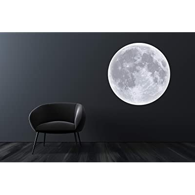 "Moon Wall Decal Room Decor - Bedroom Wall Stickers - Moon Removable Wallpaper - Moon Wall Mural Vinyl Art Décor Sticker (24"" x 24""): Baby"