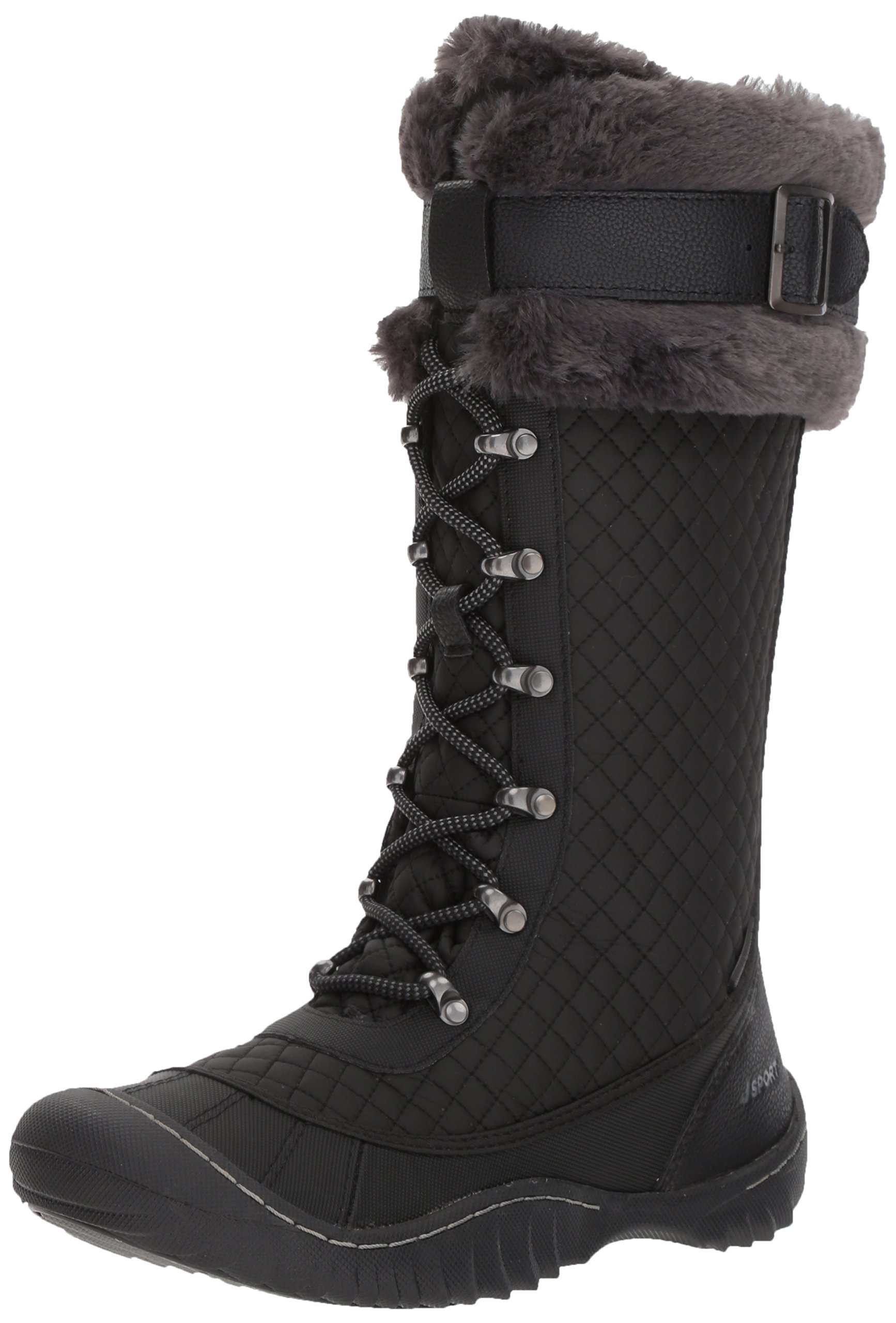JSport by Jambu Women's Wingate Weather Ready Snow Boot, Black, 6.5 M US