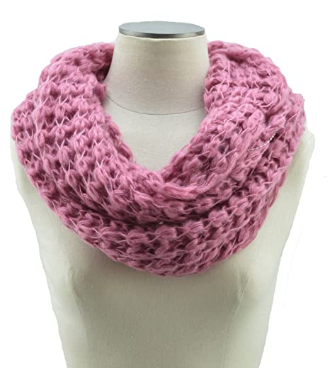 Amazon Com Crochet Cable Knit Infinity Scarf 2 Circle Cable Knit