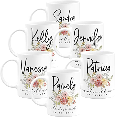 Insulated Steel Mug 18 oz. Personalized Coffee Mug Laser Engraved Gift Bridesmaids Cup in Bulk Groomsmen Gift Mother of The Bride Mug