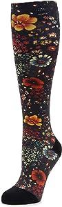 Alegria Womens Compression Socks Midnight Garden M