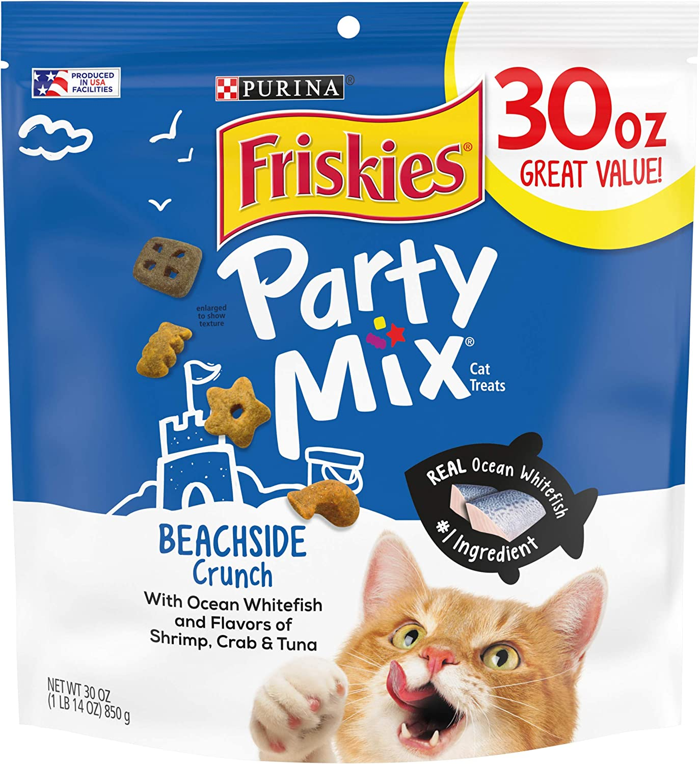Purina Friskies Party Mix Adult Cat Treats Extra Large Canisters and New! Pouches