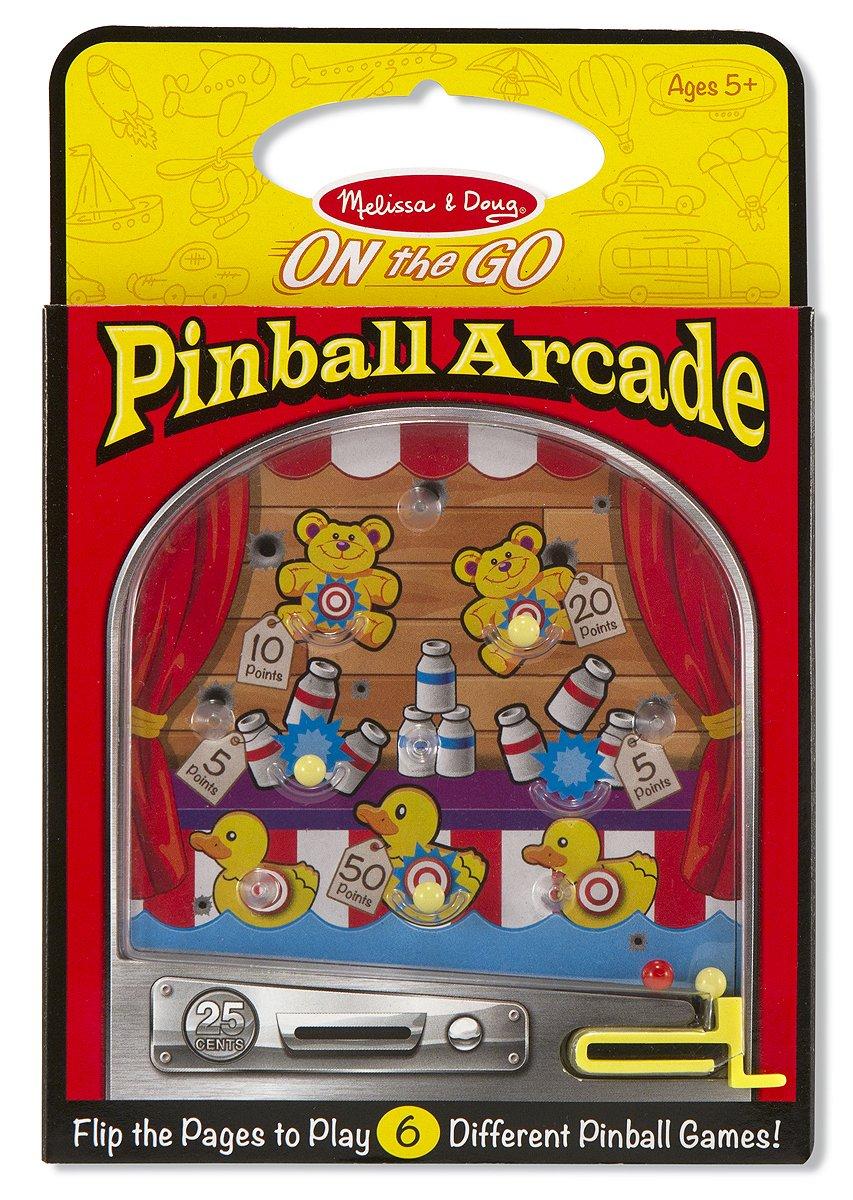 Melissa & Doug Pinball Arcade - Travel Toy With 6 Pinball Games