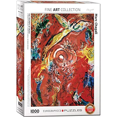 EuroGraphics 5418 The Triumph of Music by Marc Chagall 1000Piece Puzzle: Toys & Games