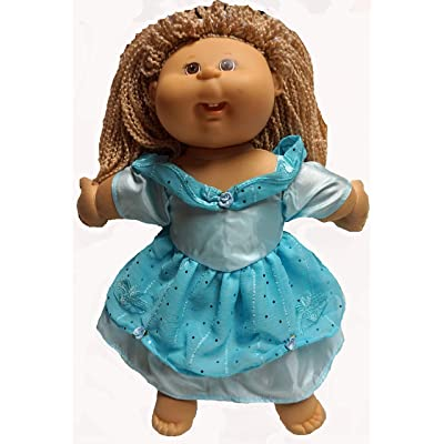 Doll Clothes Superstore Cabbage Patch Kid Doll Clothes and 15-16 Inch Baby Dolls Blue Princess Dress: Toys & Games
