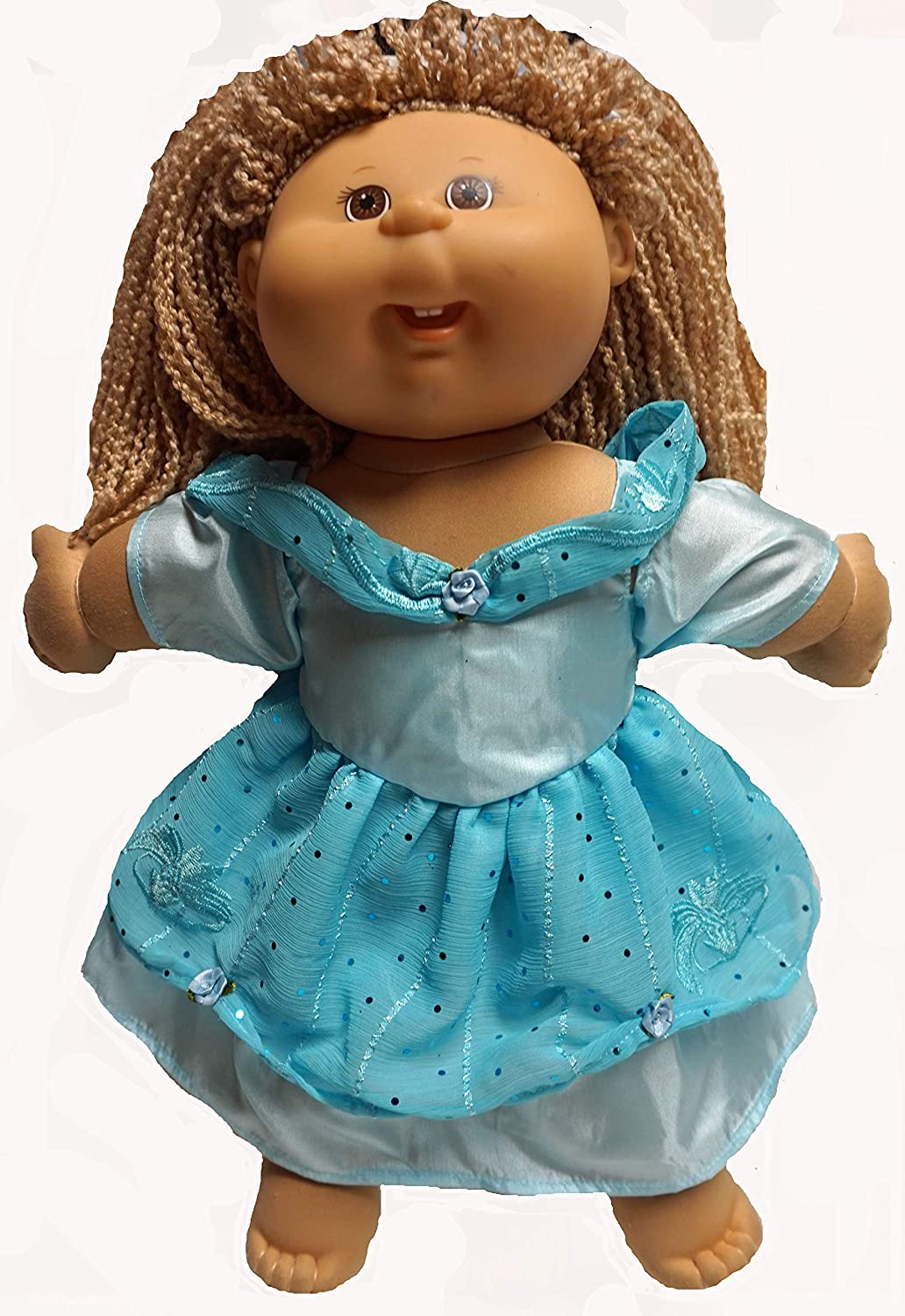 Cabbage Patch Doll clothes Fits 16 Inch Girl Green Fall Dress Clothes Only
