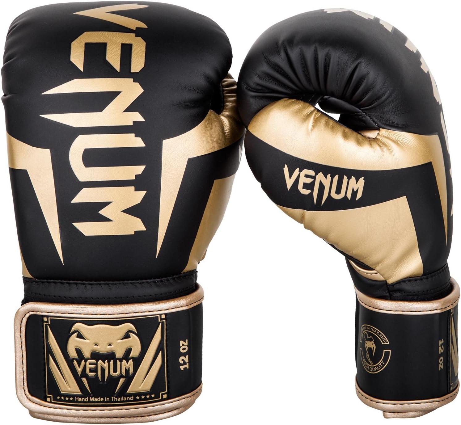 VENUM [ヴェヌム] ボクシンググローブ Elite - エリート(黒/ゴールド)  14oz