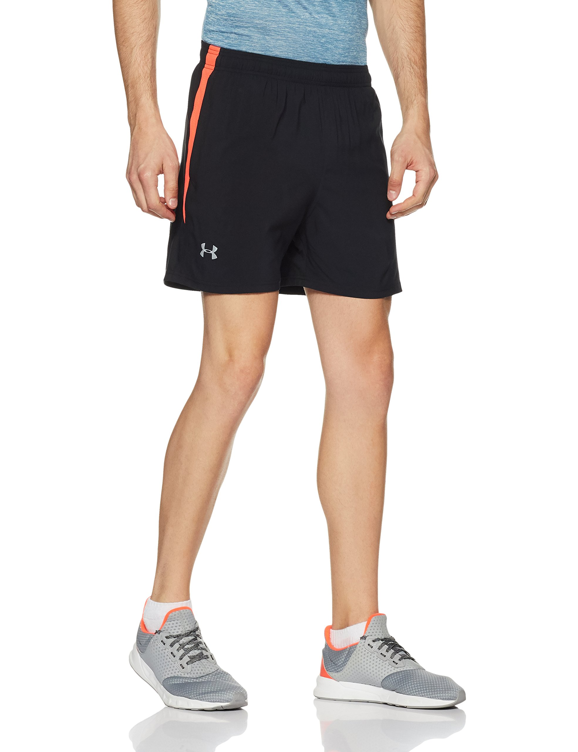 Under Armour Men's Launch 5'' Shorts,Black /Reflective, Small by Under Armour (Image #3)