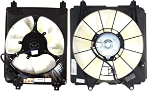 Cooling Fan Assembly Compatible with HONDA Civic 2006-2011 A/C and Radiator Fan Shroud Assembly 1.8L Eng. Coupe/Sedan Automatic Transmission