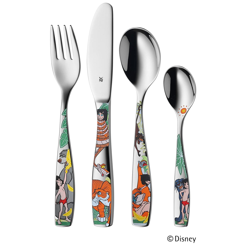 WMF Disney El Libro de la Selva - Cubertería para niños 4 piezas (tenedor, cuchillo de mesa, cuchara y cuchara pequeña) (WMF Kids infantil): Amazon.es: ...