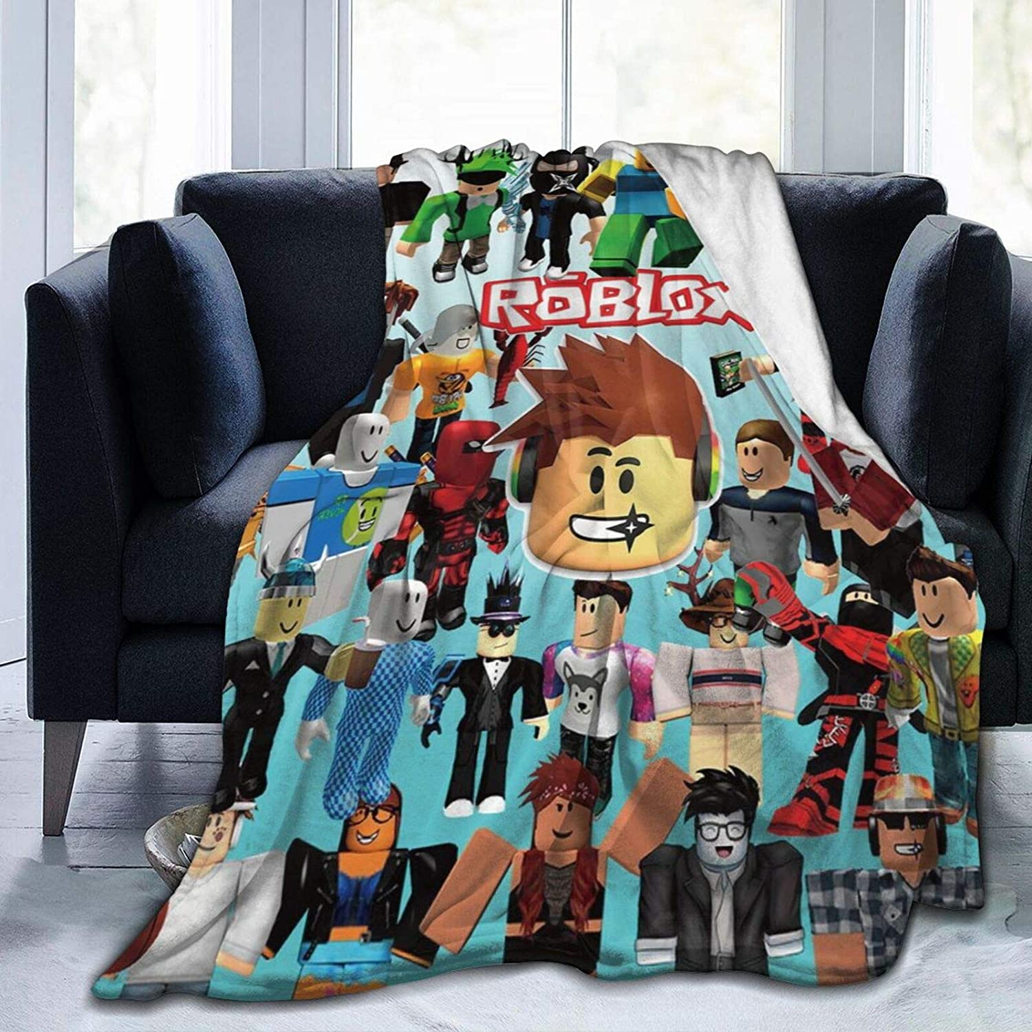 """Suguroo R-Oblox Home Fleece Throw Blankets for Couch Bed Sofa Cozy Warm Ultra-Soft Blanket 50"""" x40"""""""