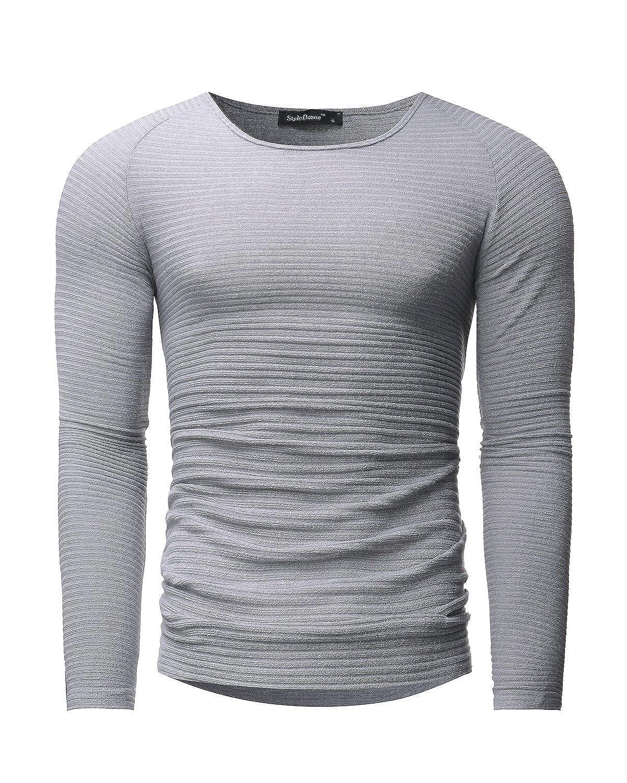 MODCHOK Herren Sweatshirt Longsleeve Shirt Hemd Crew-Neck T-Shirt Basic  Slim Fit: Amazon.de: Bekleidung