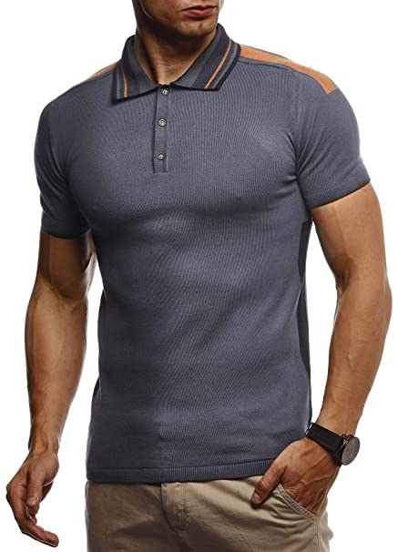 Leif Nelson Camiseta para Hombre del Polo de Verano LN-7340 ...