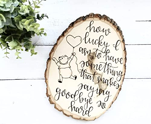 Amazon.com: Winnie The Pooh Quote | How Lucky I am To Have ...