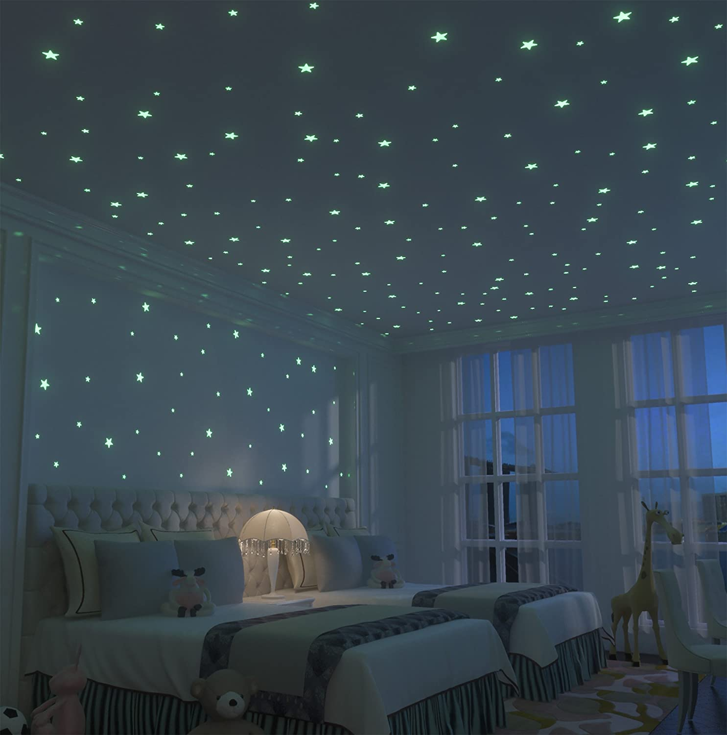 amazon com glow stars supernova 200 of the brightest glow in the amazon com glow stars supernova 200 of the brightest glow in the dark stars boxed set with adhesive putty mesh pouch free constellation guide 3