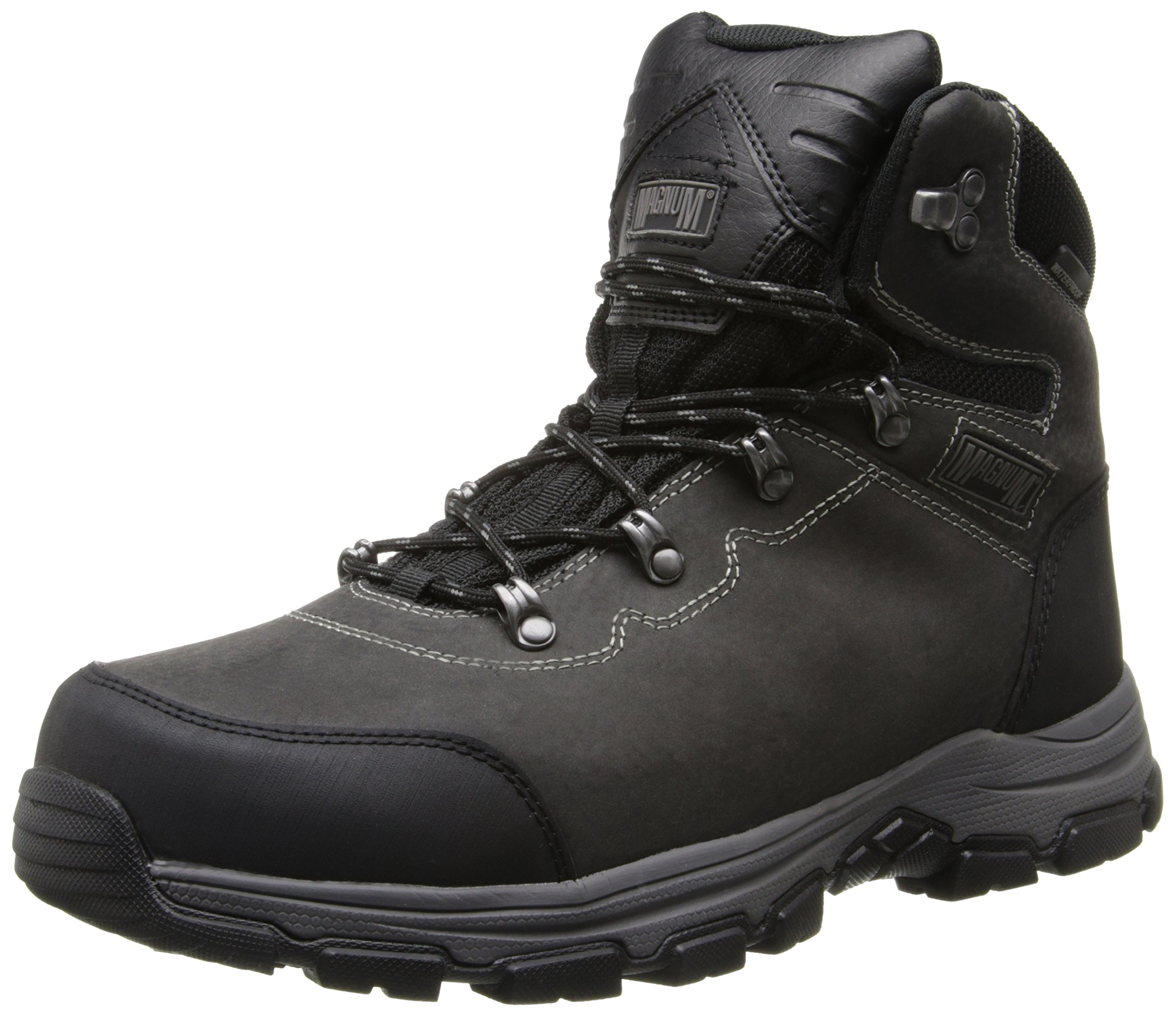 Magnum Men's Austin Mid Steel Toe Waterproof Work Boot, Charcoal, 11 M US by Magnum