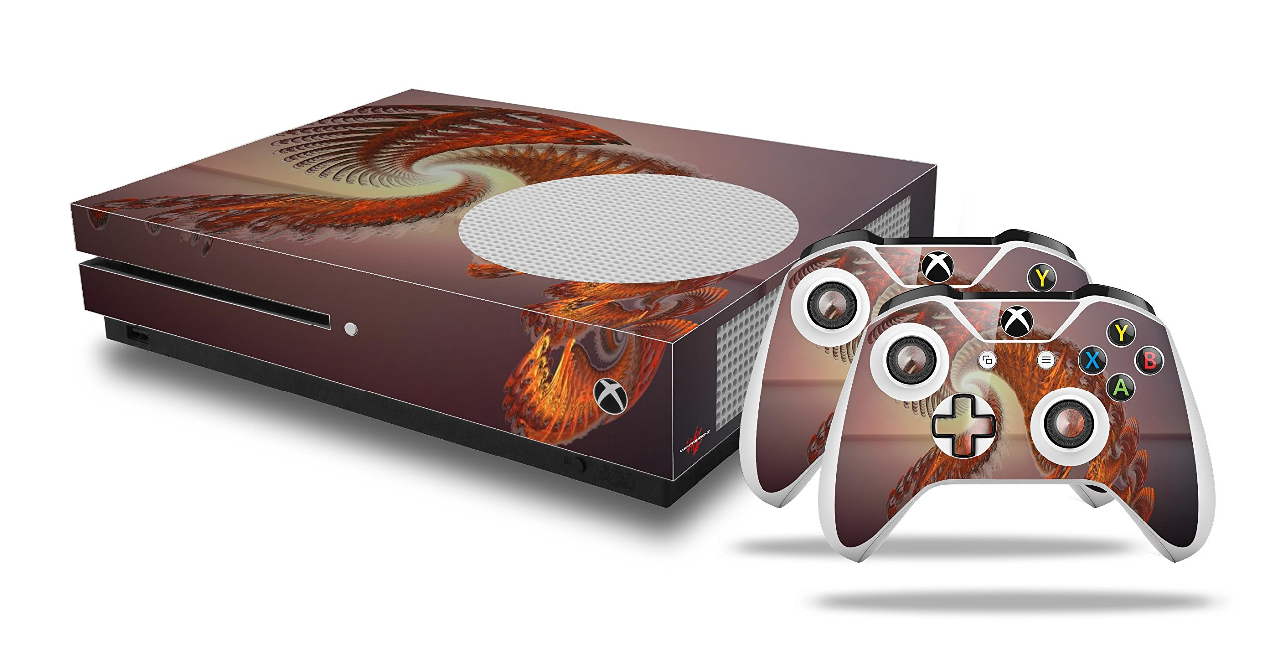 Solar Power - Decal Style Skin Set fits XBOX One S Console and 2 Controllers (XBOX SYSTEM SOLD SEPARATELY) by WraptorSkinz