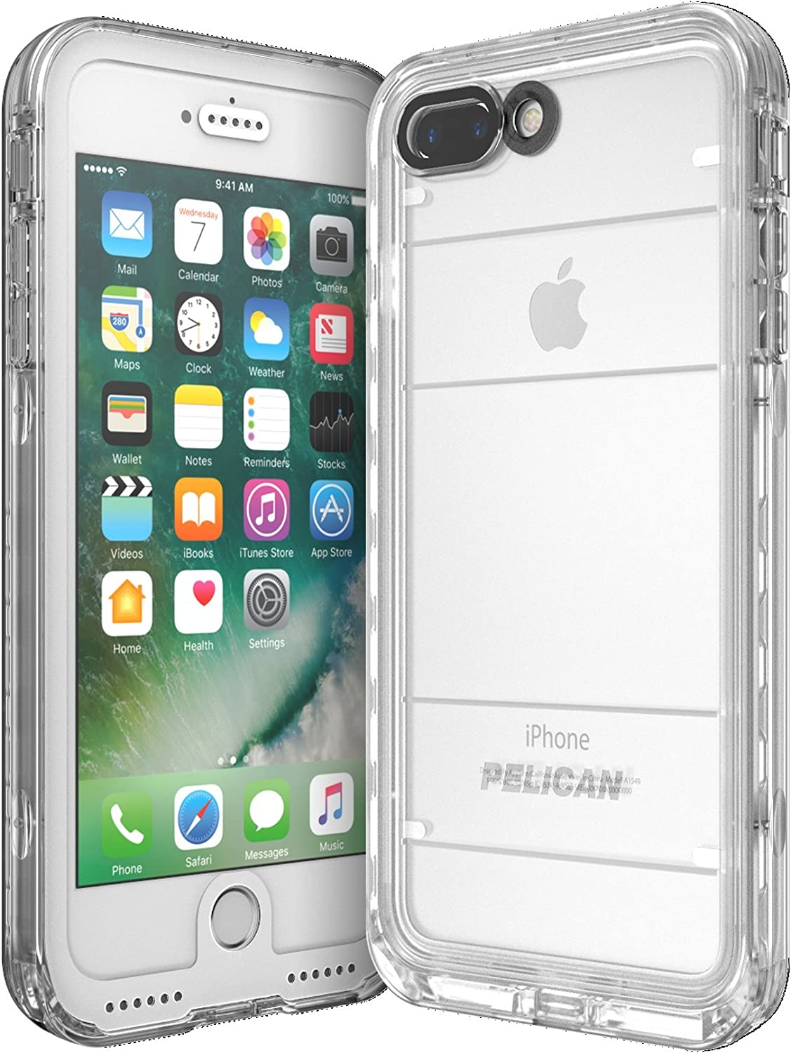 Amazon Com Pelican Marine Waterproof Iphone 7 Plus Case White Clear